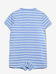 Ralph Lauren Baby - Striped Cotton Jersey Shortall - kurzärmelig - blue lagoon multi - 1