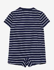 Ralph Lauren Baby - Striped Cotton Jersey Shortall - short-sleeved - french navy multi - 1