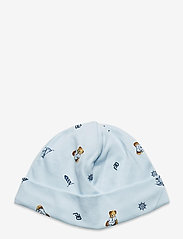Ralph Lauren Baby - Polo Bear Interlock Hat - hats - blue multi - 0