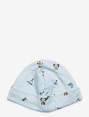 Ralph Lauren Baby - Polo Bear Interlock Hat - hats - blue multi - 1