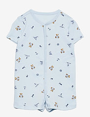 Ralph Lauren Baby - Polo Bear Cotton Interlock Shortall - kurzärmelig - blue multi - 0