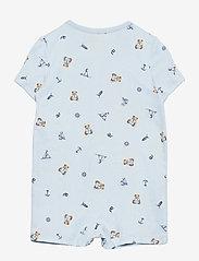 Ralph Lauren Baby - Polo Bear Cotton Interlock Shortall - kurzärmelig - blue multi - 1