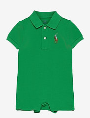 Ralph Lauren Baby - Big Pony Cotton Mesh Polo Shortall - kurzärmelig - golf green - 0