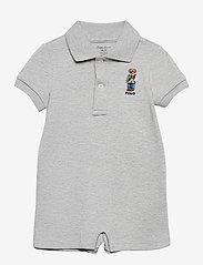 Ralph Lauren Baby - Polo Bear Cotton Interlock Shortall - kurzärmelig - andover heather - 0