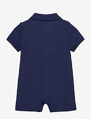 Ralph Lauren Baby - Polo Bear Cotton Interlock Shortall - kortærmede - newport navy - 1