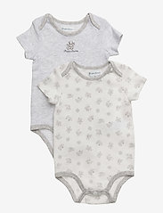 Ralph Lauren Baby - Cotton Bodysuit 2-Piece Set - short-sleeved - quartz heather - 0