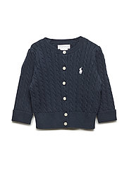 Cable-Knit Cotton Cardigan - HUNTER NAVY