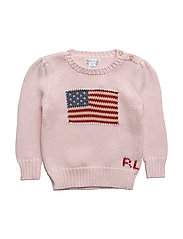 American Flag Sweater - FRENCH PINK