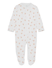 Polo Bear Cotton Coverall - WHITE/PINK/MULTI
