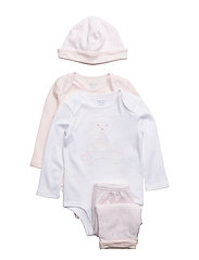 INTERLOCK-PANT SET-AC-GBX - DELICATE PINK/WHI