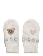 Intarsia Cotton-Wool Mittens - TROPHY CREAM