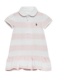 YD RUGBY JERSEY-RUGBY STRIPE-DR-KNT - DELICATE PINK/WHI
