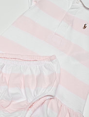 Ralph Lauren Baby - YD RUGBY JERSEY-RUGBY STRIPE-DR-KNT - dresses - delicate pink/whi - 4