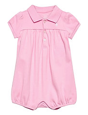 Interlock Bubble Shortall - CARMEL PINK/WHITE