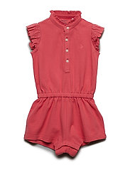 MESH-POLO ROMPER-OP-RMP - PALE RED