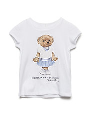 ENZYME JERSEY-SS BEAR TEE-TP-KNT - WHITE