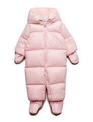 Quilted Down Snowsuit - HINT OF PINK
