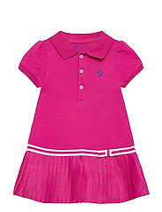Pleated Polo Dress & Bloomer - ACCENT PINK