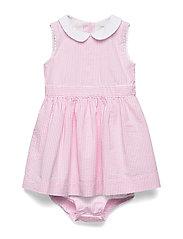 Seersucker Dress & Bloomer - PINK MULTI