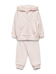 French Terry Hoodie & Pant Set - DELICATE PINK
