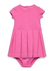Pleated Knit Dress & Bloomer - BAJA PINK