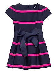 Striped Sateen Dress & Bloomer - FRENCH NAVY MULTI