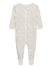 Floral Jersey Footed Coverall - MULTI FLORAL