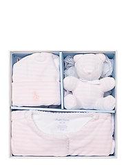 Ralph Lauren Baby - YD VELOUR-VELOUR CVRLL-AC-GBX - gift sets - hint of pink/whit - 2