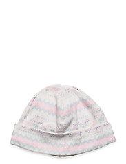 Fair Isle Print Cotton Hat - CREAM MULTI
