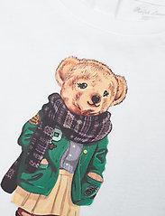 Ralph Lauren Baby - 40/1 CTN ENZYME JSY-BEAR TEE-TP-KNT - kortærmede - white - 2