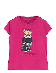 Backpack Bear Cotton Tee - COLLEGE PINK