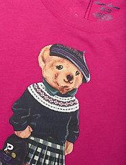 Ralph Lauren Baby - Backpack Bear Cotton Tee - short-sleeved - college pink - 2