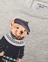 Ralph Lauren Baby - Backpack Bear Cotton Tee - short-sleeved - heather grey - 2