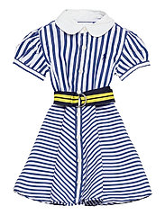 Shirtdress, Belt, & Bloomer - BLUE/WHITE