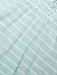 Ralph Lauren Baby - YD JERSEY-YD BUBBLE-OP-SHA - kurzärmelig - crystal blue/whit - 2