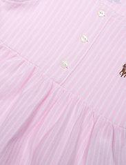 Ralph Lauren Baby - YD OXFORD MESH-KNIT BUBBLE-OP-SHA - short-sleeved - carmel pink/white - 2