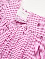 Ralph Lauren Baby - Gingham Cotton Seersucker Dress - kleider - pink/white - 5