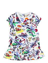 Polo Bear Tee Dress & Bloomer - NAUTICAL DECO BEA