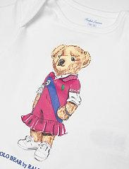 Ralph Lauren Baby - Polo Bear Cotton Bodysuit - kurzärmelige - white - 2