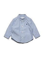 PINPOINT OXFORD-CUSTOM FIT-TP-SHT - BSR BLUE/WHITE