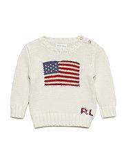 Flag Cotton Sweater - CHIC CREAM