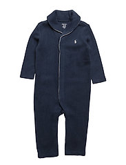 French-Rib Cotton Coverall - SUMMER NAVY