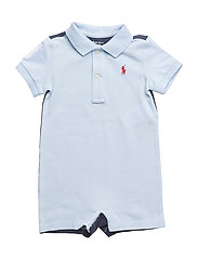 Cotton Mesh Polo Shortall - ELITE BLUE MULTI