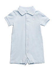Cotton Interlock Polo Shortall - BERYL BLUE