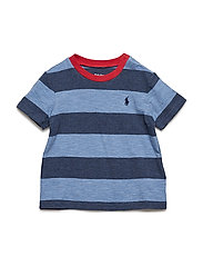 Striped Jersey Crewneck T-Shirt - DERBY BLUE HEATHE