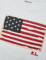 Ralph Lauren Baby - Flag-Patch Cotton Tee - short-sleeved - white - 2