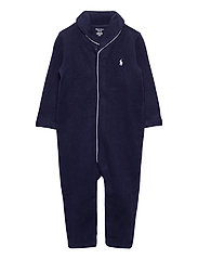French-Rib Cotton Coverall - FRENCH NAVY