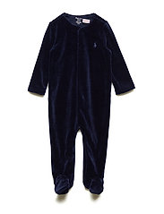 Cotton-Blend-Velour Coverall - FRENCH NAVY