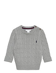 Cable-Knit Cotton Sweater - LEAGUE HEATHER