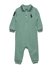 ee356a0c5 POLO COVERAL-ONE PIECE-COVERALL - JERSEY GREEN HEAT. SALE. 35%. Ralph Lauren  Baby